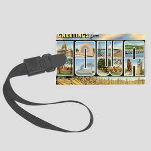 iowa Large Luggage Tag